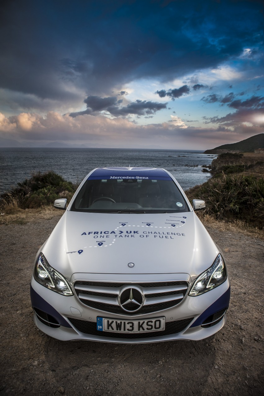 Mercedes-Benz E 300 BlueTEC Hybrid shows what diesel hybrid can do – Africa-UK on one tank Image #256212