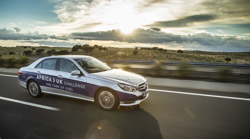 Mercedes-Benz E 300 BlueTEC Hybrid shows what diesel hybrid can do – Africa-UK on one tank Image #256214