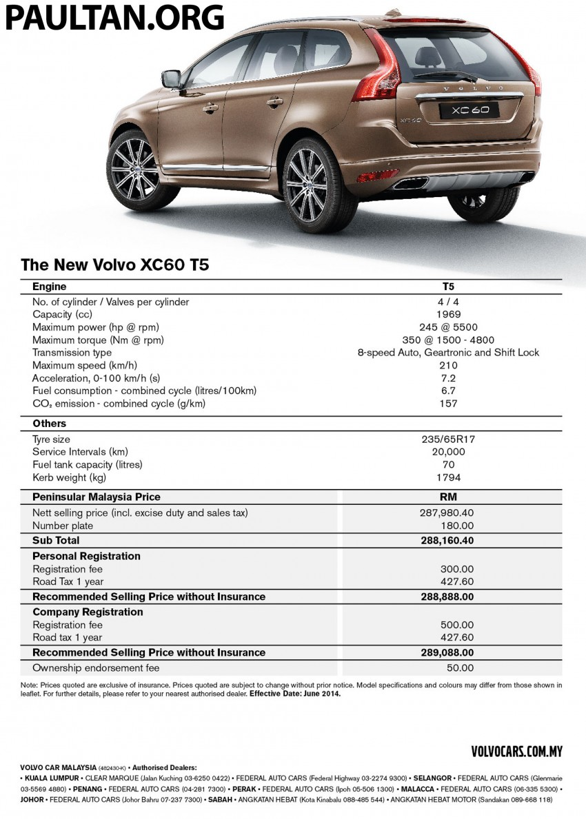 Volvo XC60 T5 Facelift launched – Drive-E, RM289k Image #254893