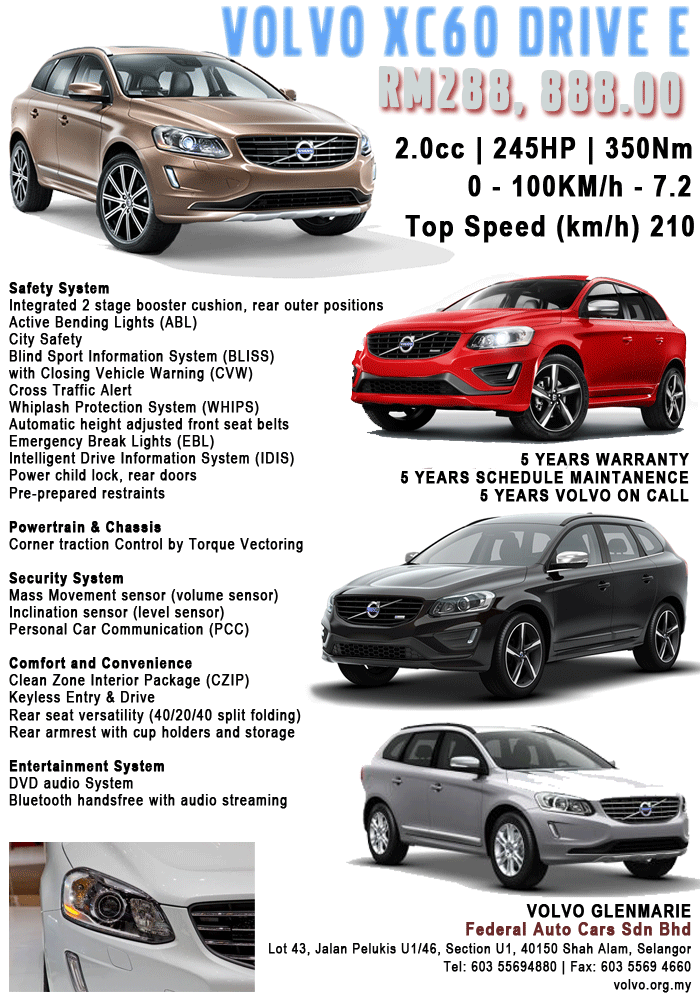 Volvo XC60 Drive-E dealer brochure out – RM288,888 Image #251341