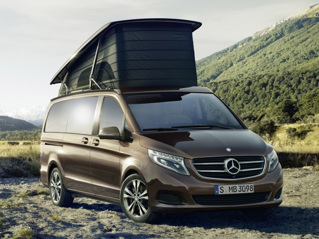 mercedes benz marco polo v class based camper. Black Bedroom Furniture Sets. Home Design Ideas