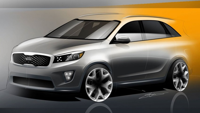 2015 Kia Sorento artist's renderings – an accurate preview of the seven-seat SUV? Image #260104