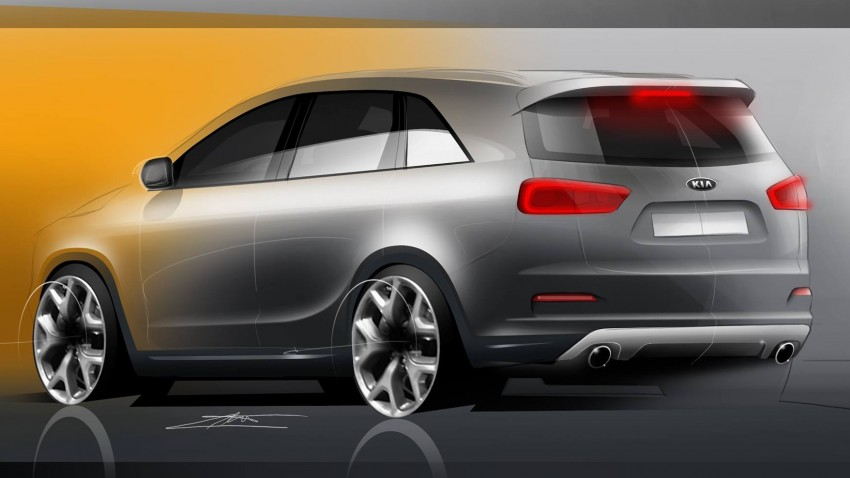 2015 Kia Sorento artist's renderings – an accurate preview of the seven-seat SUV? Image #260103