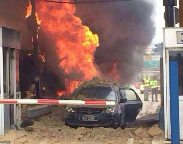 kesas accident fire