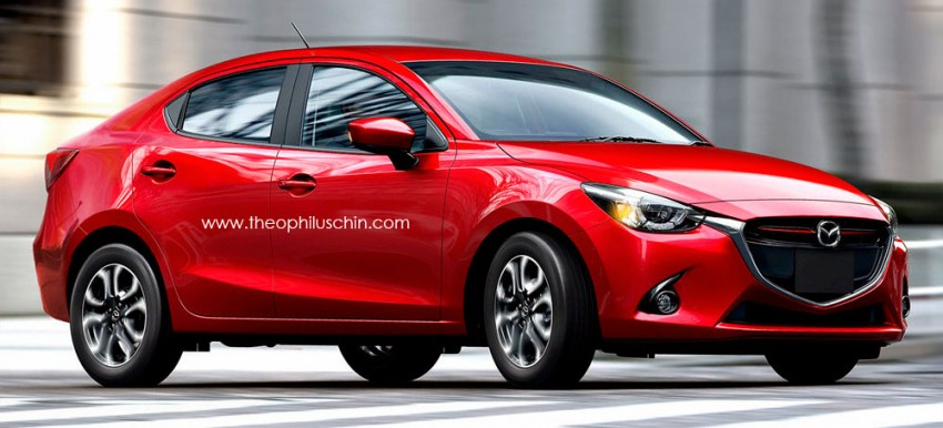 Mazda 2 to spawn Sedan and SUV siblings – could a 'Zoom Zoom' Honda City competitor look like this? Image #259913