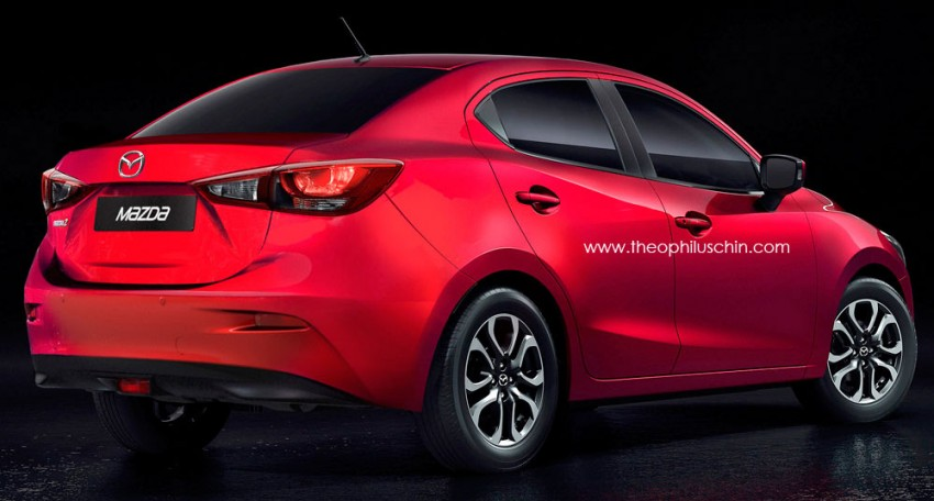 Mazda 2 to spawn Sedan and SUV siblings – could a 'Zoom Zoom' Honda City competitor look like this? Image #259914