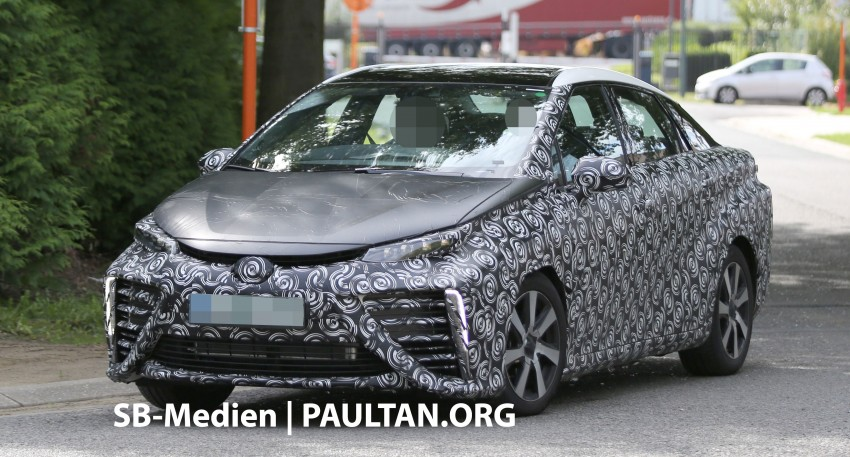 SPIED: 2015 Toyota Mirai hydrogen fuel cell 'future car' keeps Toyota FCV Concept's styling Image #264831