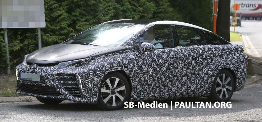 SPIED: 2015 Toyota Mirai hydrogen fuel cell 'future car' keeps Toyota FCV Concept's styling Image #264830