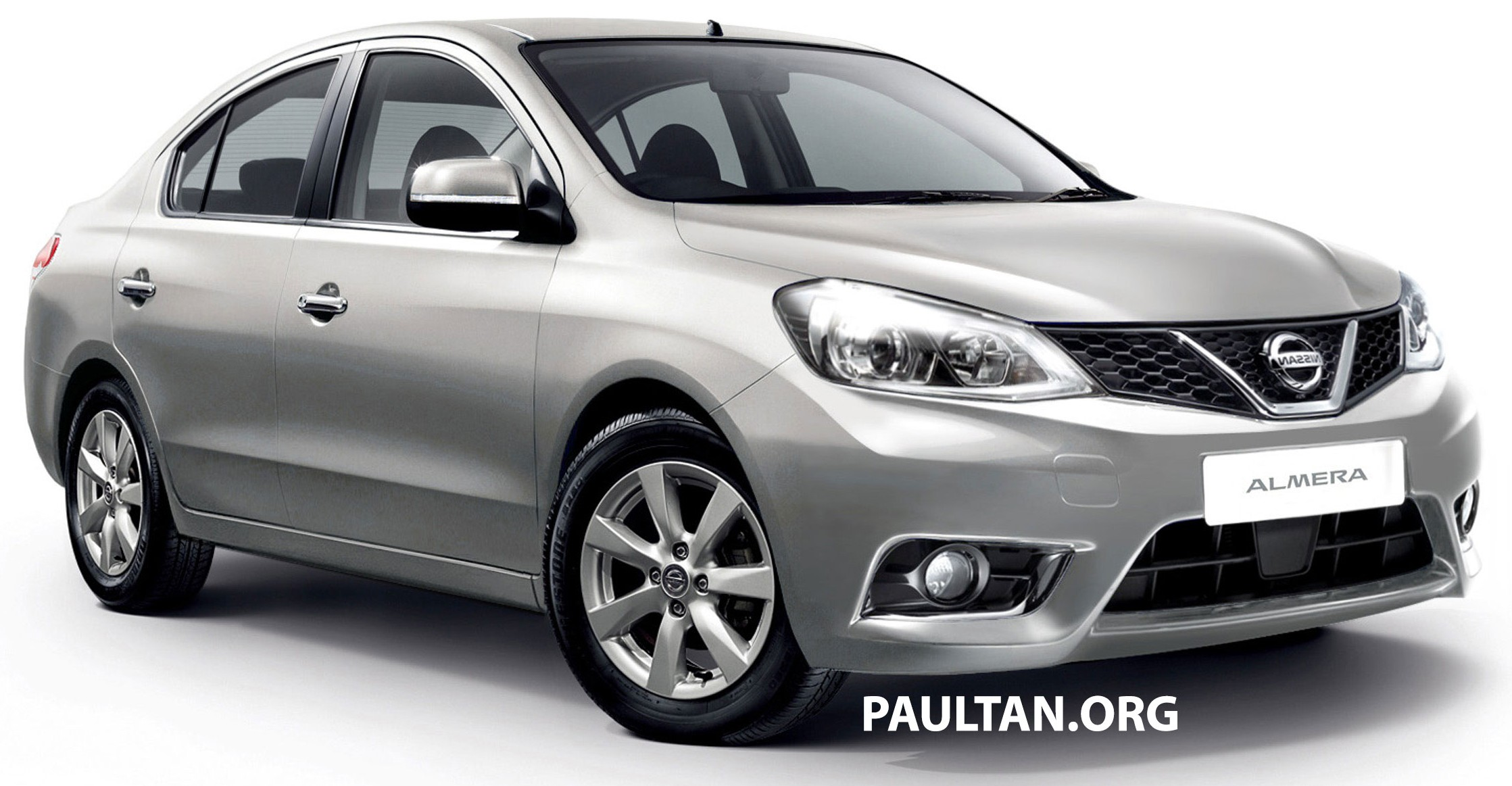 Nissan Almera facelift with V-Motion face rendered Image ...