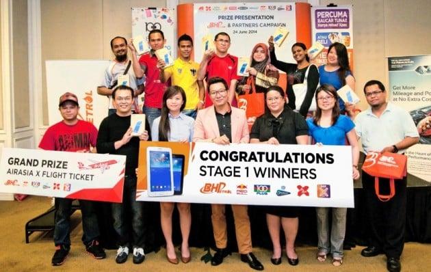 BHP Air Asia Celcom Contest Winners