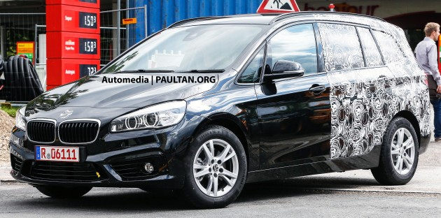 SPIED Seat BMW Series Active Tourer Shows Face - 7 seat bmw