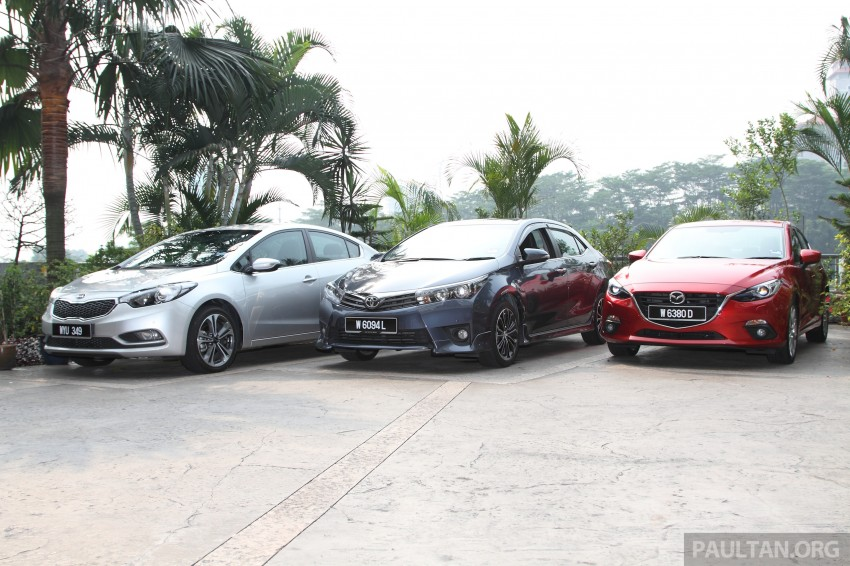Driven Web Series 2014 #5: Top of the C-segment class – Mazda 3 vs Toyota Corolla Altis vs Kia Cerato Image #263246