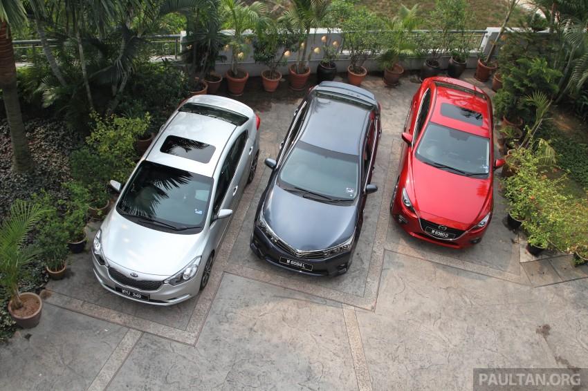 Driven Web Series 2014 #5: Top of the C-segment class – Mazda 3 vs Toyota Corolla Altis vs Kia Cerato Image #263248