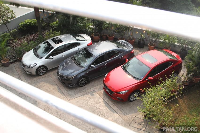 Driven Web Series 2014 #5: Top of the C-segment class – Mazda 3 vs Toyota Corolla Altis vs Kia Cerato Image #263249