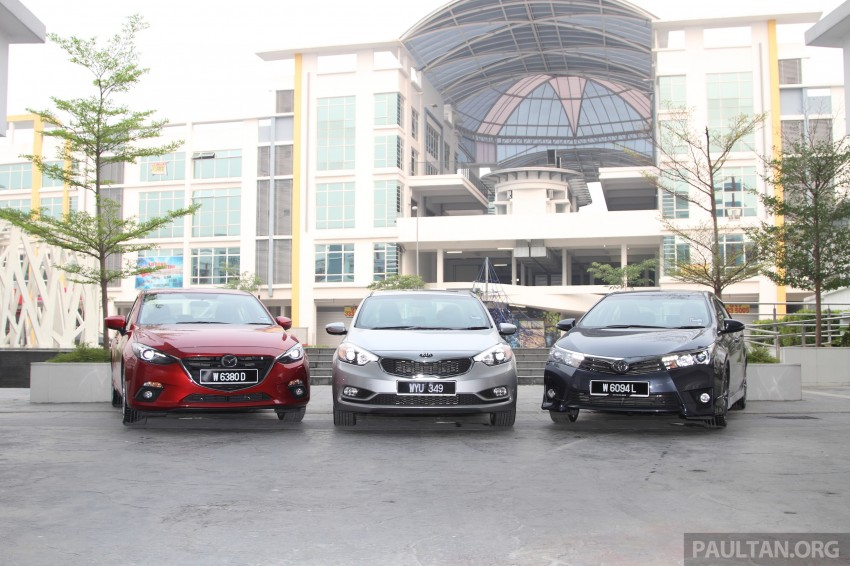 Driven Web Series 2014 #5: Top of the C-segment class – Mazda 3 vs Toyota Corolla Altis vs Kia Cerato Image #263251