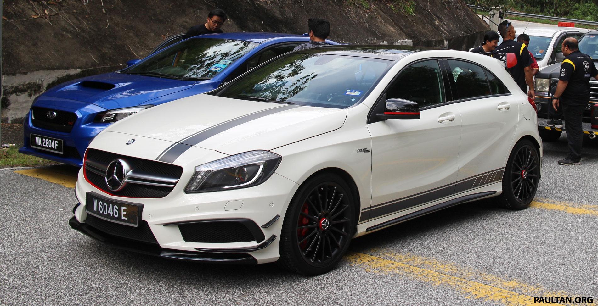 Driven Web Series 2014 #4: Horsepower assault – Mercedes A 45 AMG vs VW Golf R vs Subaru WRX STI