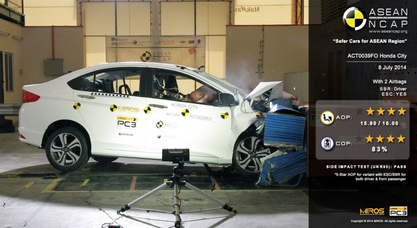 ASEAN NCAP Q3 2014 test results announced: Perodua Axia, Honda City, Honda Jazz and Tata Vista Image #266610