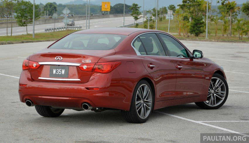 DRIVEN: Infiniti Q50S Hybrid – enter the contender Image #263092