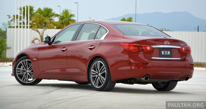 DRIVEN: Infiniti Q50S Hybrid – enter the contender Image #263110