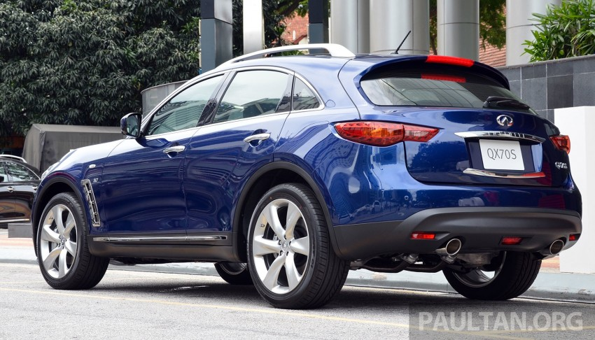 Infiniti QX70S – sport package now available, RM500k Image #266805