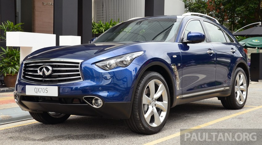Infiniti QX70S – sport package now available, RM500k Image #266813