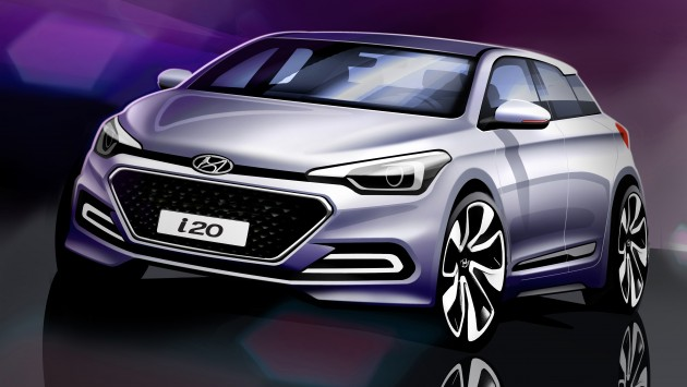 2015 Hyundai I20 Renderings Shown August 11 Debut