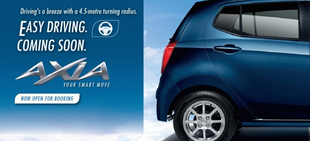 Perodua Axia 1 0 G first official photo released