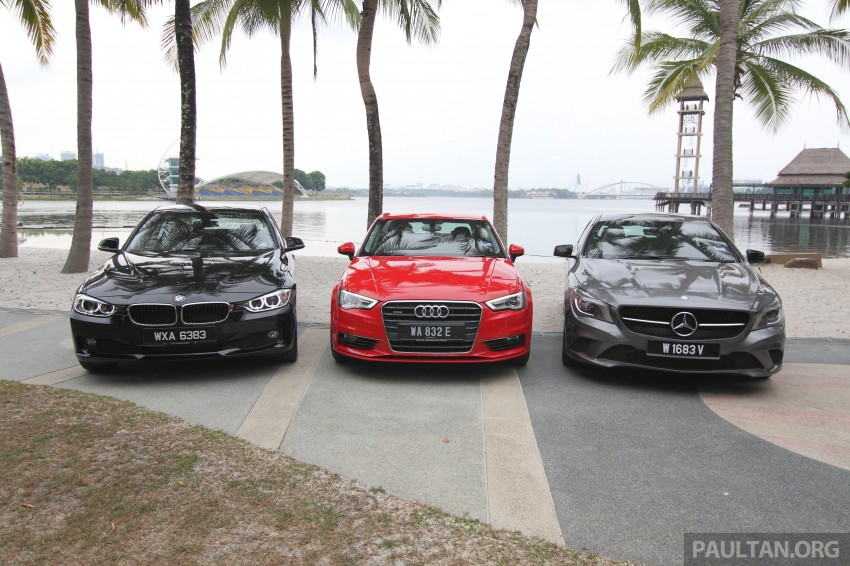 Driven Web Series 2014 #7: The first step to premium – Audi A3 Sedan vs Mercedes CLA 200 vs BMW 316i Image #266633