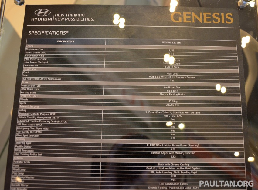 Hyundai Genesis previewed in Malaysia with 3.8L V6 Image #264622