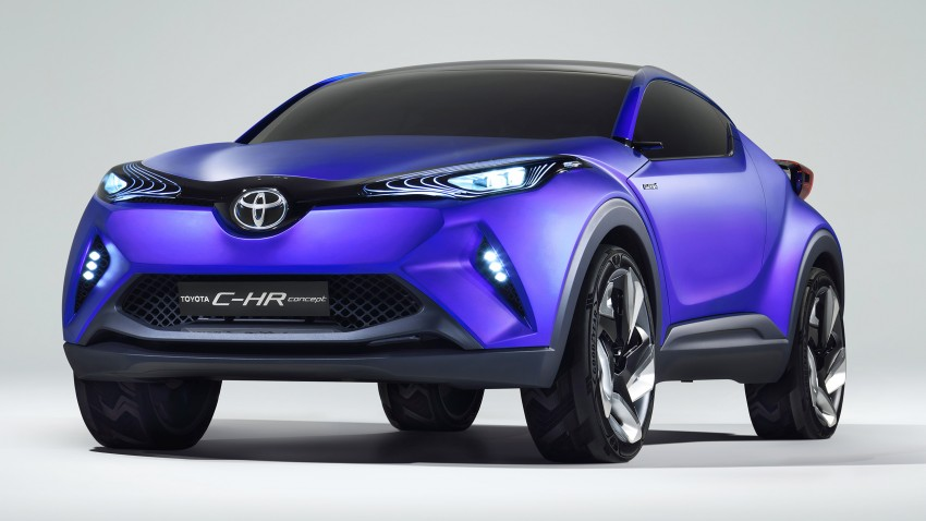 Toyota C-HR Concept SUV: first images released Image #273983