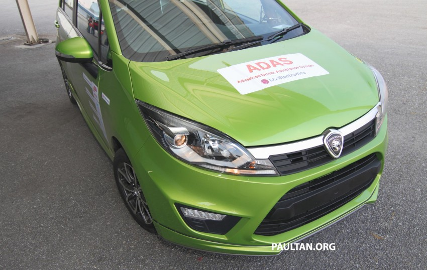 Proton Iriz prototype fitted with LG ADAS camera Image #275939