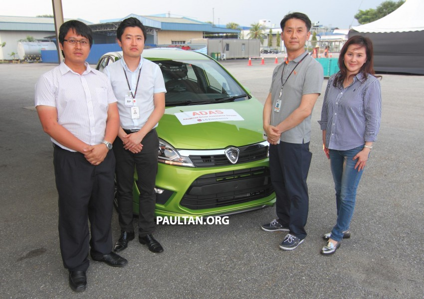 Proton Iriz prototype fitted with LG ADAS camera Image #275941