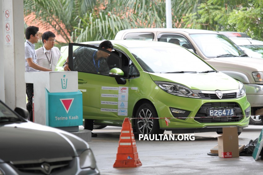 SPYSHOTS: Proton Iriz prototype with ADAS active safety stereo camera testing on Malaysian roads Image #276369