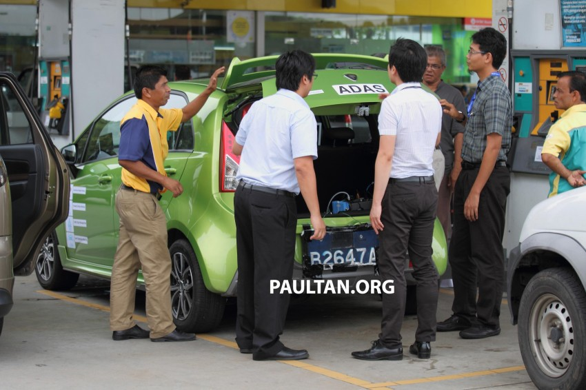 SPYSHOTS: Proton Iriz prototype with ADAS active safety stereo camera testing on Malaysian roads Image #276363