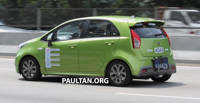 SPYSHOTS: Proton Iriz prototype with ADAS active safety stereo camera testing on Malaysian roads Image #276362