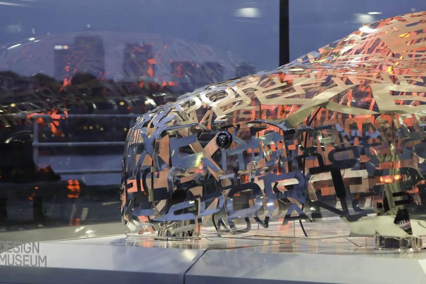 Jaguar XE 'word cloud' sculpture in London Image #269524