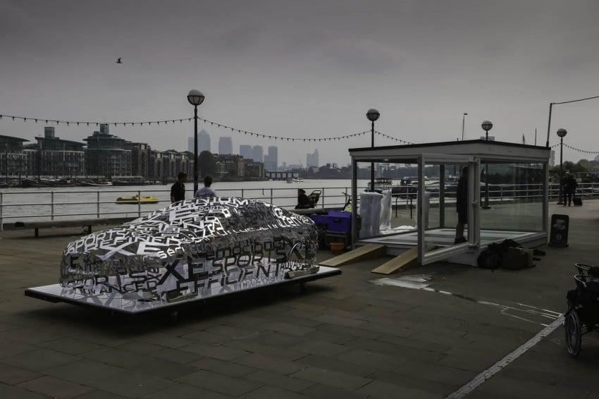 Jaguar XE 'word cloud' sculpture in London Image #269526