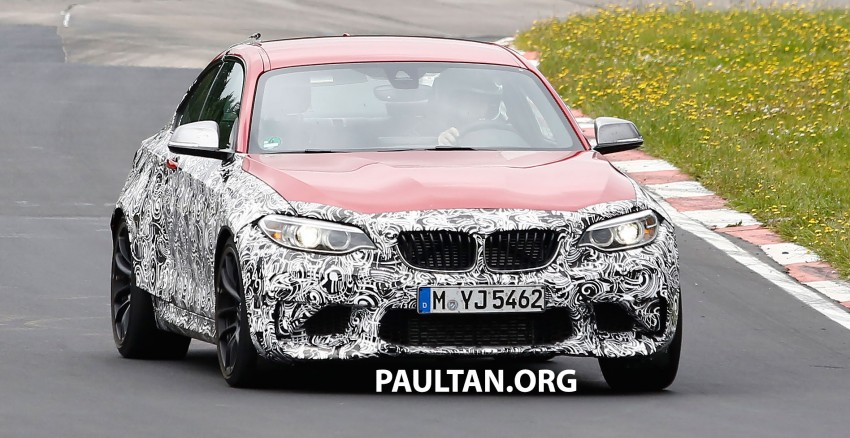 spyshots bmw m2 coupe prototype seen on the 39 ring wearing production m bumper. Black Bedroom Furniture Sets. Home Design Ideas