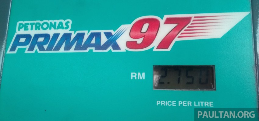 RON 97 petrol price drops to RM2.75 per litre Image #269965