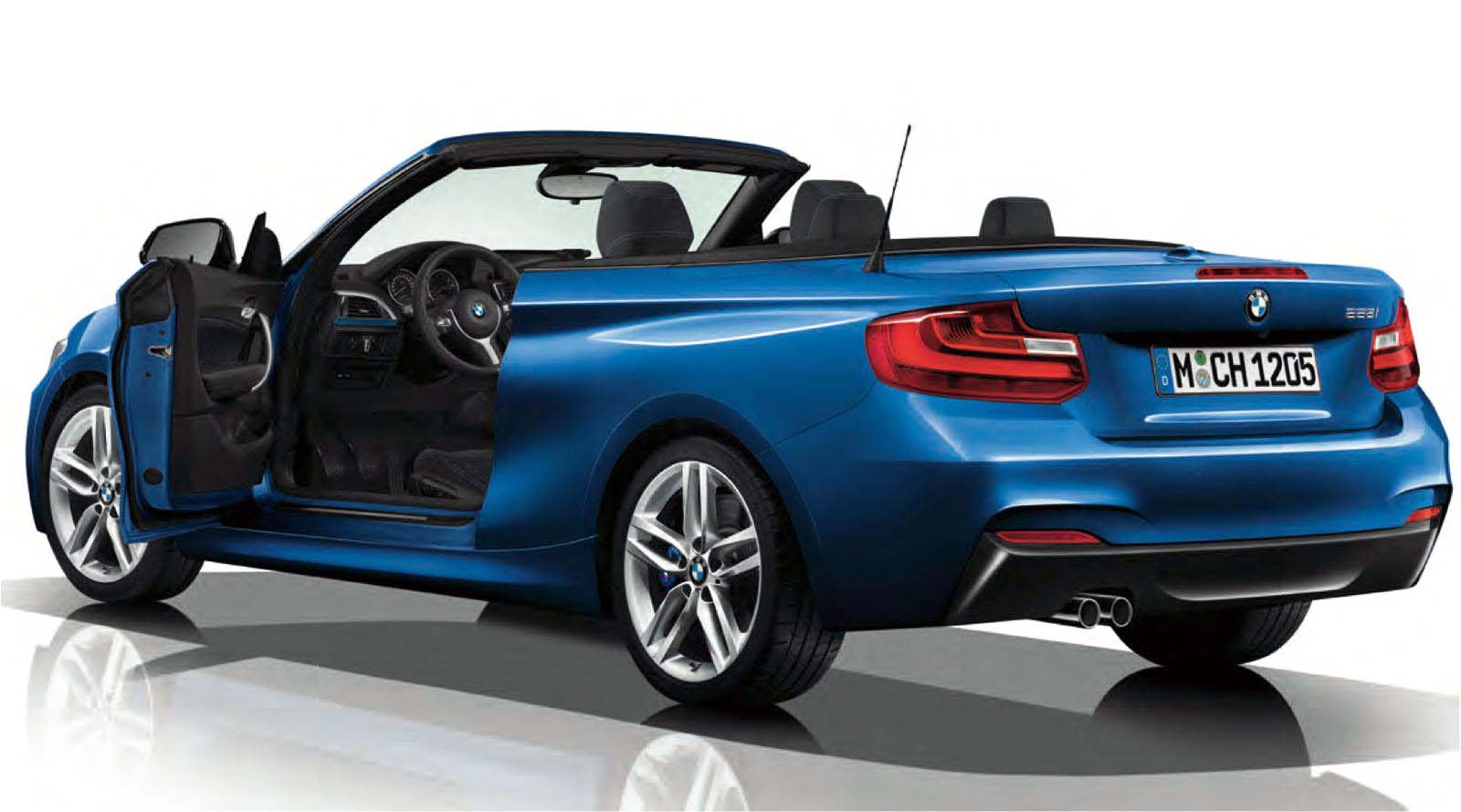 bmw 2 series convertible with m sport package revealed. Black Bedroom Furniture Sets. Home Design Ideas