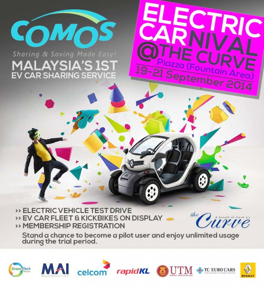 COMOS Electric Carnival at The Curve this weekend – see and test drive electric cars, register as a member Image #272484