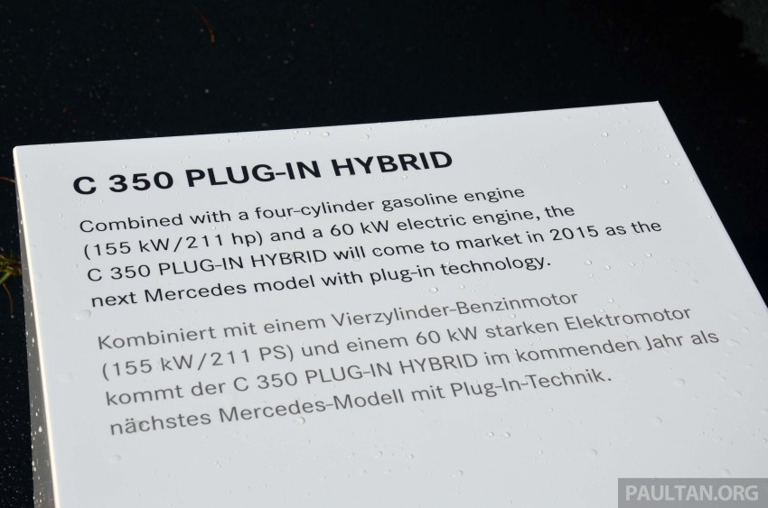 Mercedes-Benz C 350 Plug-in Hybrid previewed: 211 PS 2.0 turbo engine, 80 hp electric motor Image #275726