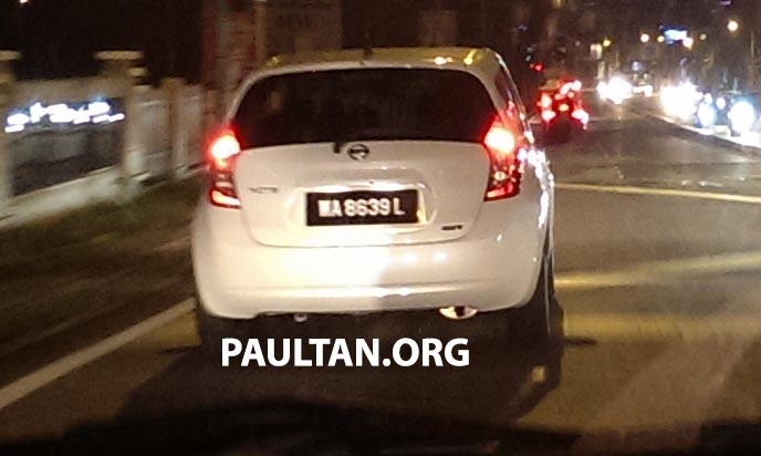SPYSHOTS: White Nissan Note sighted in Malaysia with registered Wilayah number plate