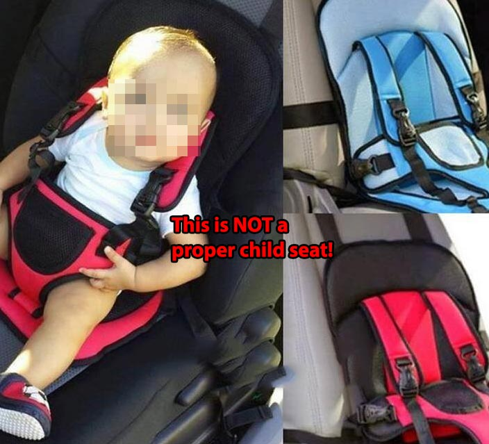 CRASH VIDEO Heres What Happens To A Child Strapped In Non Compliant Pocket Type Car Seat