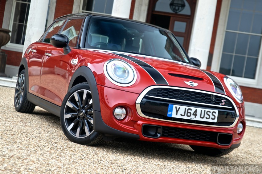 driven f55 mini cooper s 5 door tested in the uk image 278980. Black Bedroom Furniture Sets. Home Design Ideas