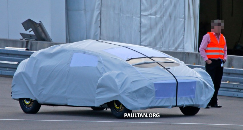 SPYSHOTS: Mysterious Mercedes-Benz Concept with skinny tyres – could this be shown at CES 2015? Image #281941