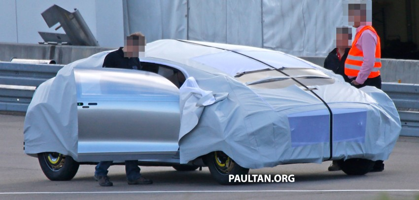 SPYSHOTS: Mysterious Mercedes-Benz Concept with skinny tyres – could this be shown at CES 2015? Image #281944