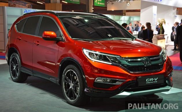 Honda CR-V European facelift – live images from Paris