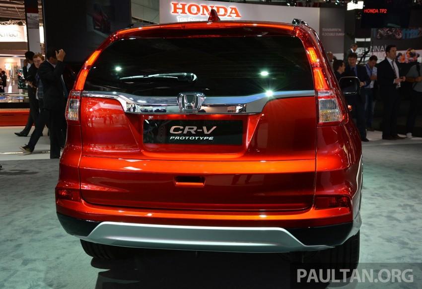 Honda CR-V European facelift – live images from Paris Image #278485