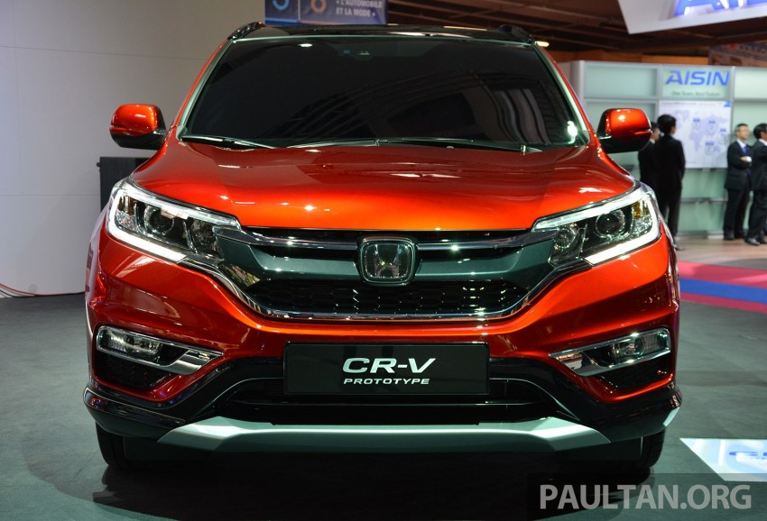 Honda CR-V European facelift – live images from Paris Image #278479